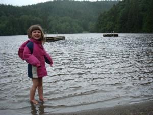 Bea Swimming in the Rain