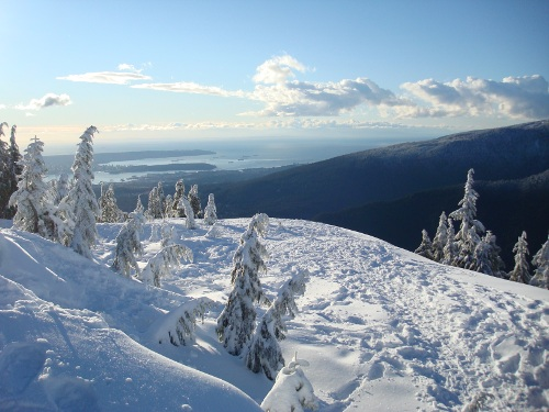 peak of dog mountain showshoe trail