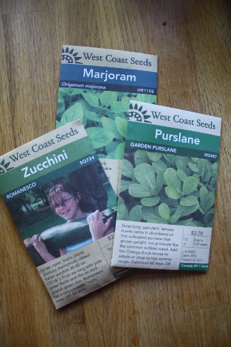 solstice seed packets
