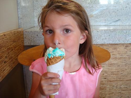 swimming celebration ice cream