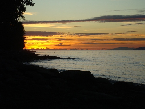 golden sunset at spanish banks