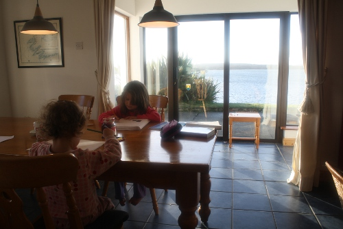 homeschooling in our irish holiday cottage