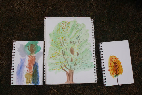 watercolour paintings of trees